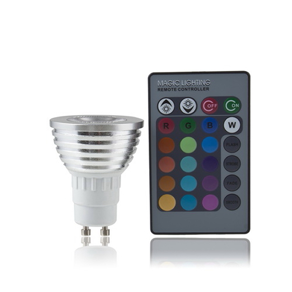 5w e27 multi color change rgb led light bulb lamp with remote control jl ebay. Black Bedroom Furniture Sets. Home Design Ideas