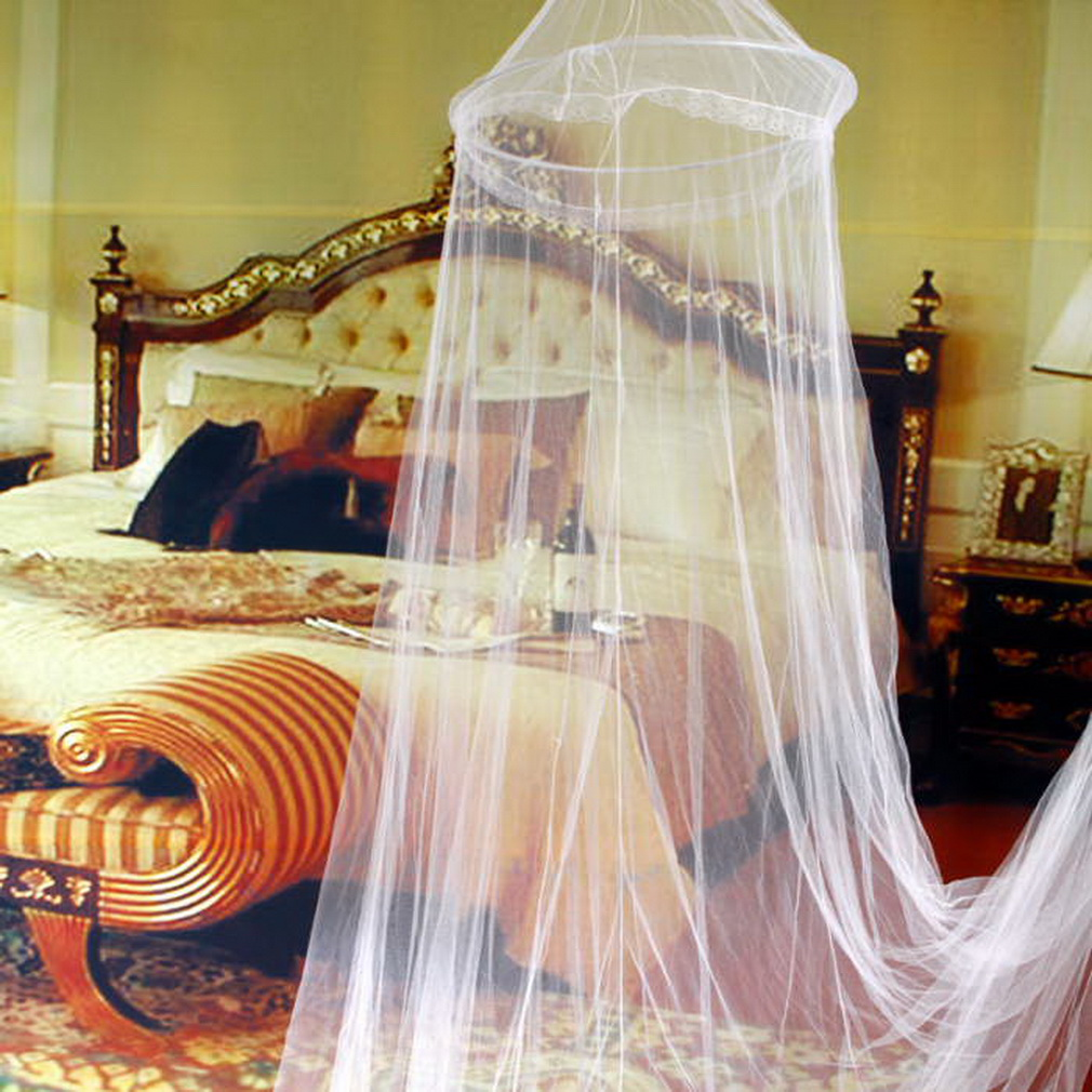 Canopy Beds With Curtains: Elegant Round Lace Insect Bed Canopy Netting Curtain Dome