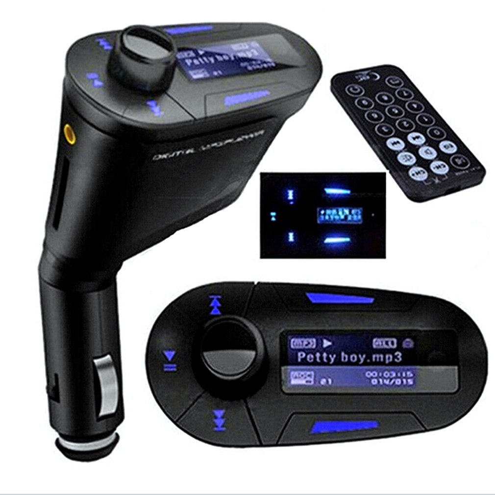 lcd car kit bluetooth mp3 player fm transmitter modulator. Black Bedroom Furniture Sets. Home Design Ideas