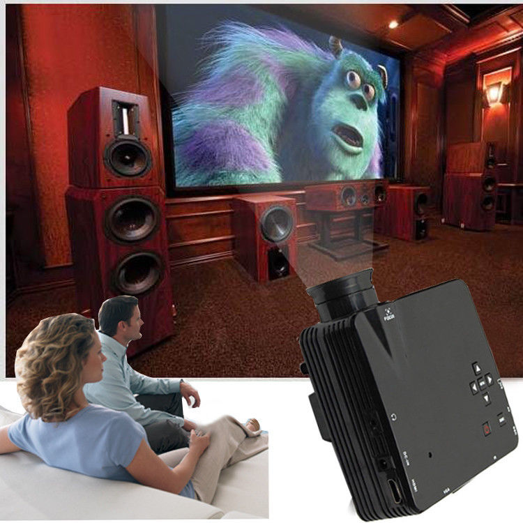 Home Cinema Theater Multimedia Led Lcd Projector Hd 1080p