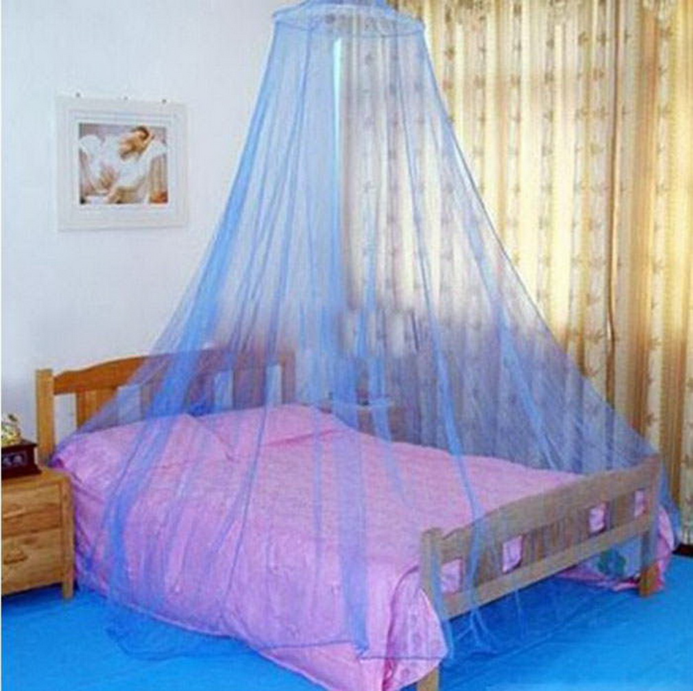 Elegant round lace insect bed canopy netting curtain dome for Bed with mosquito net decoration