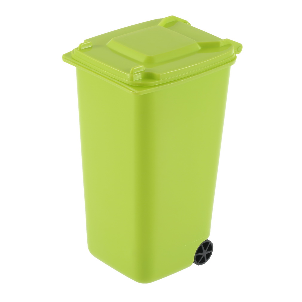 Mini wheelie bin desk tidy office desktop stationery organiser pencil holder be ebay - Desk stationery organiser ...
