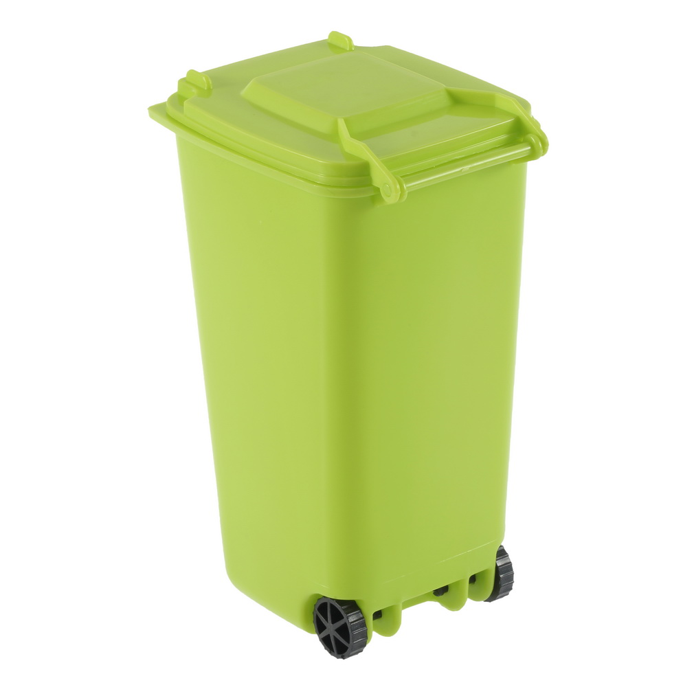 Mini wheelie bin desk tidy office desktop stationery organiser pencil holder f5 ebay - Desk stationery organiser ...