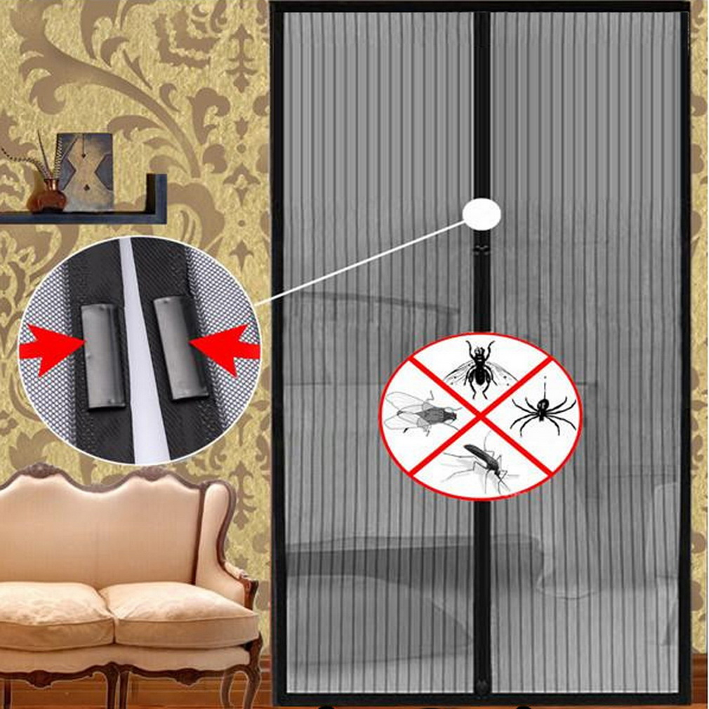 Hands free magic mesh screen net door with magnets anti mosquito insect fly bug mosquito door net netting mesh screen easy to fit and remove leave your door open enjoy fresh cooler air dont worry about spiders vtopaller Image collections