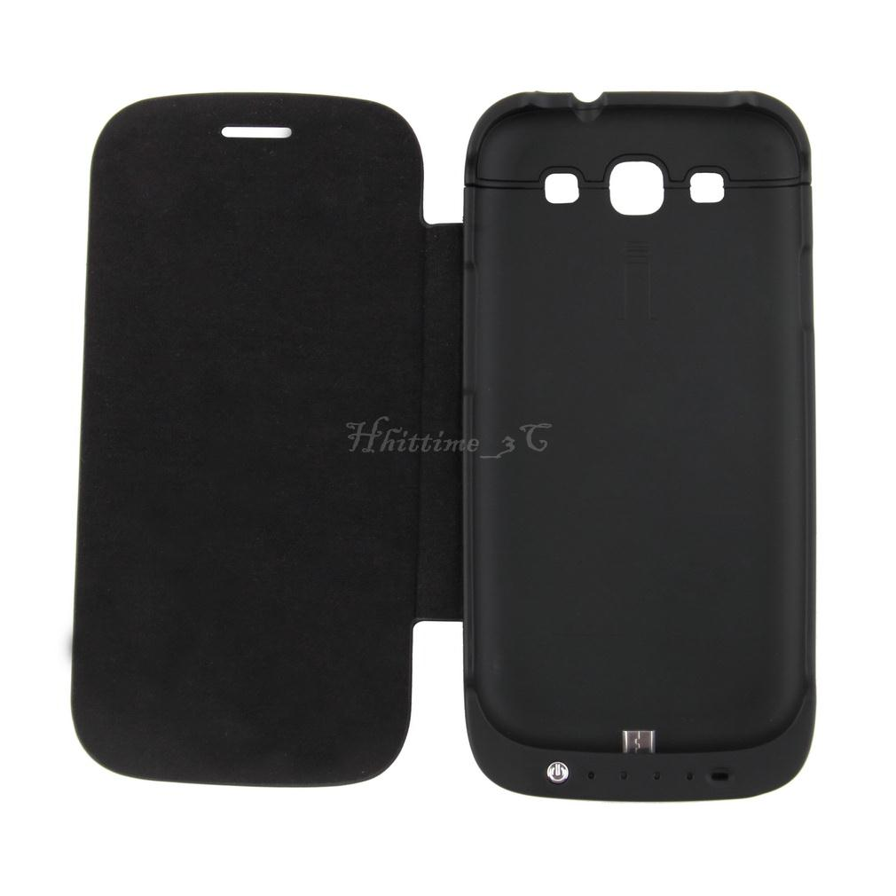 3200mAh External Backup Battery Charger Case With Cover For Samsung Galaxy S3 IB