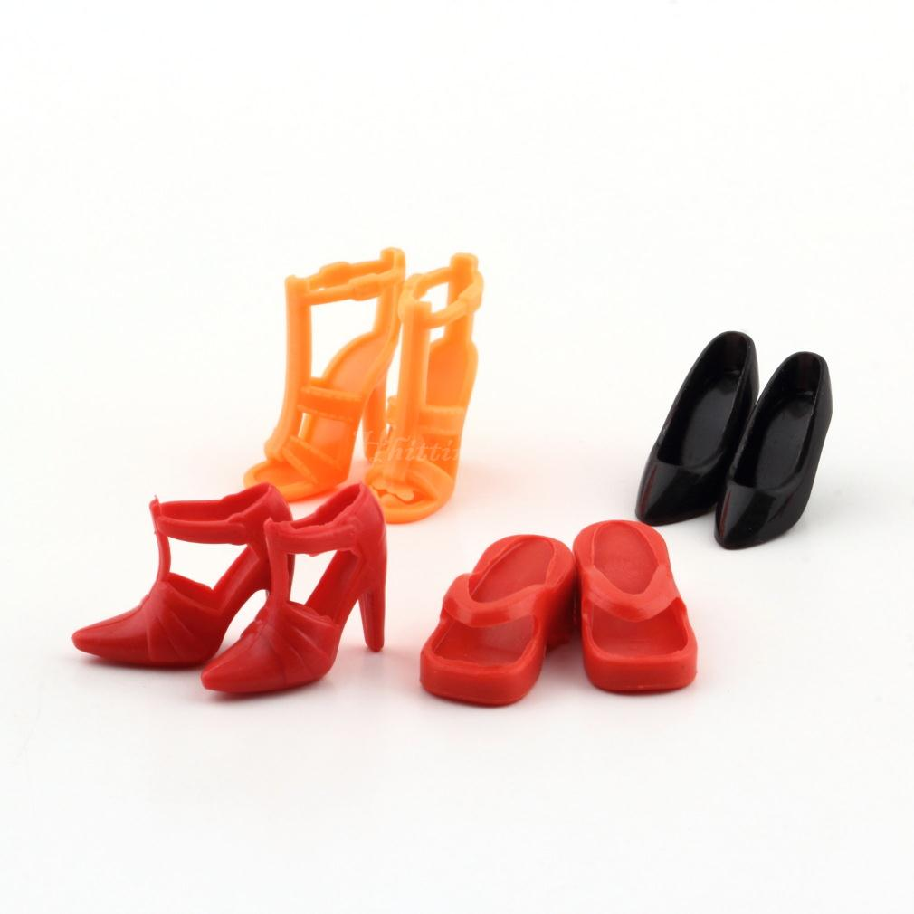 Colorful Assorted Shoes Different Styles Fashion 12 pairs Cute For Barbie Doll V 878881193605