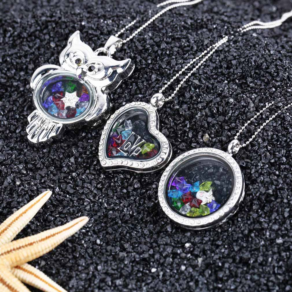 cz charm living charms gem lockets floating with images l locket search necklace memory necklaces