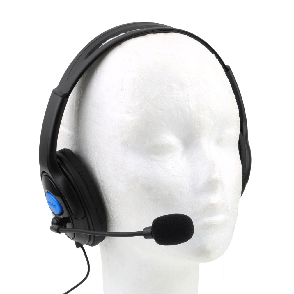 deluxe headset headphone with microphone volume control. Black Bedroom Furniture Sets. Home Design Ideas