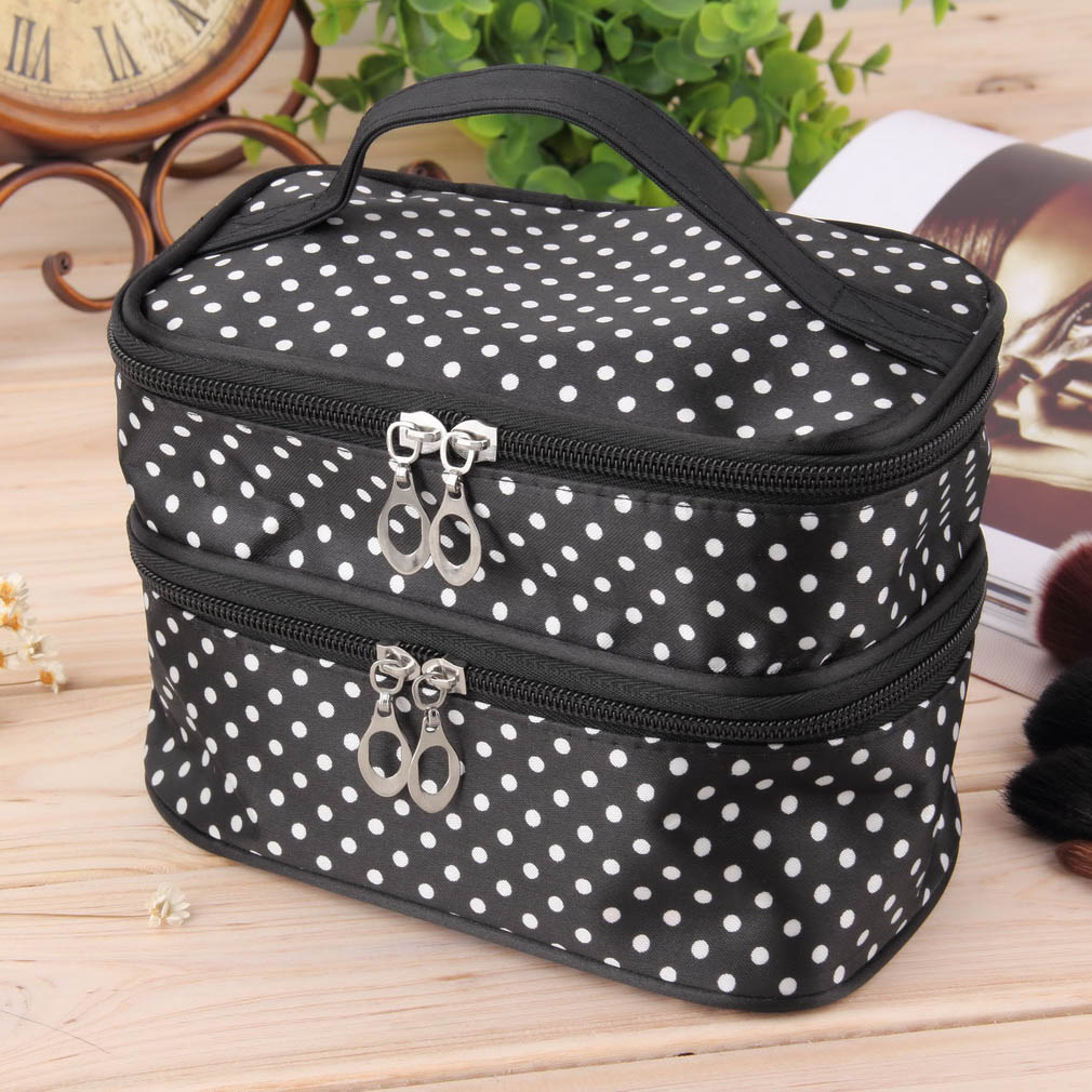 hanging dot zip cosmetic bag makeup pouch travel toiletry. Black Bedroom Furniture Sets. Home Design Ideas