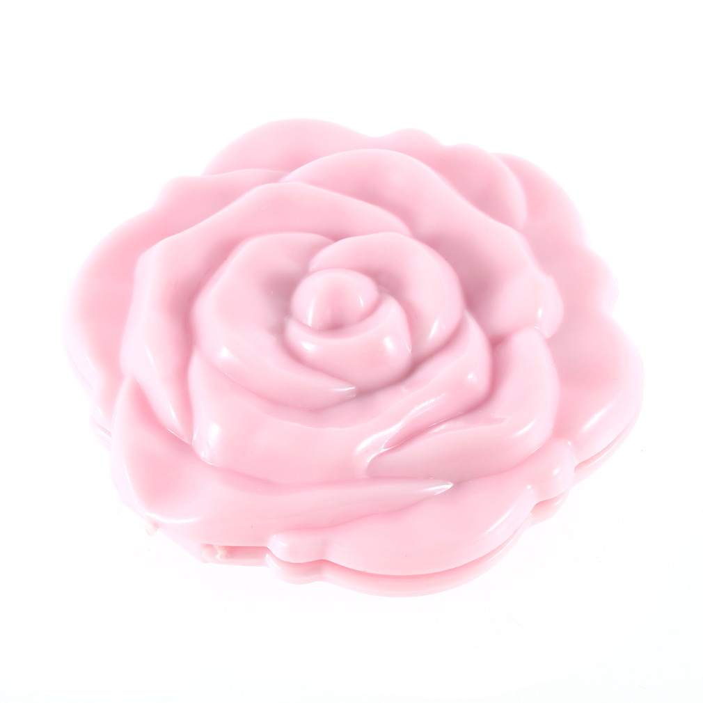 3d cute rose shape compact cosmetic mirror dp ebay. Black Bedroom Furniture Sets. Home Design Ideas